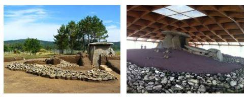 el dolmen antes y despues de su construcción exterior