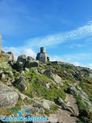 Faro Vilan antiguo Camariñas en Galicia