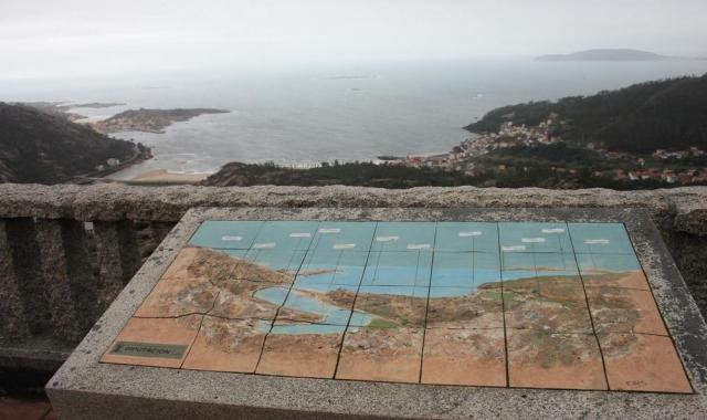 Mapa mirador Ezaro