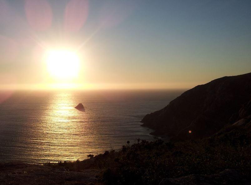 Atardecer en Cabo fisterra