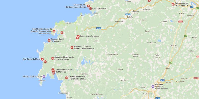 Mapas De A Costa Da Morte Costadamorte Blog